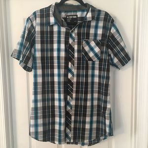 Zoo York Short Sleeve Plaid Button Up Shirt